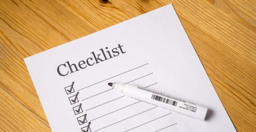 Checklist 08.06